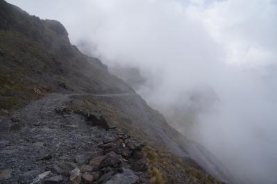 Der Weg in den Wolken