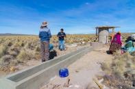 Die Vorarbeiten: Tränke, Brunnen, Fundament für den Tank